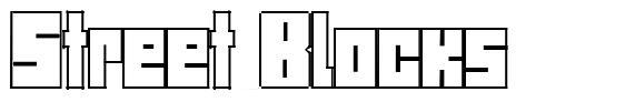 Street Blocks font