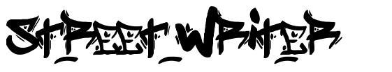 Street Writer font