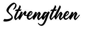 Strengthen font