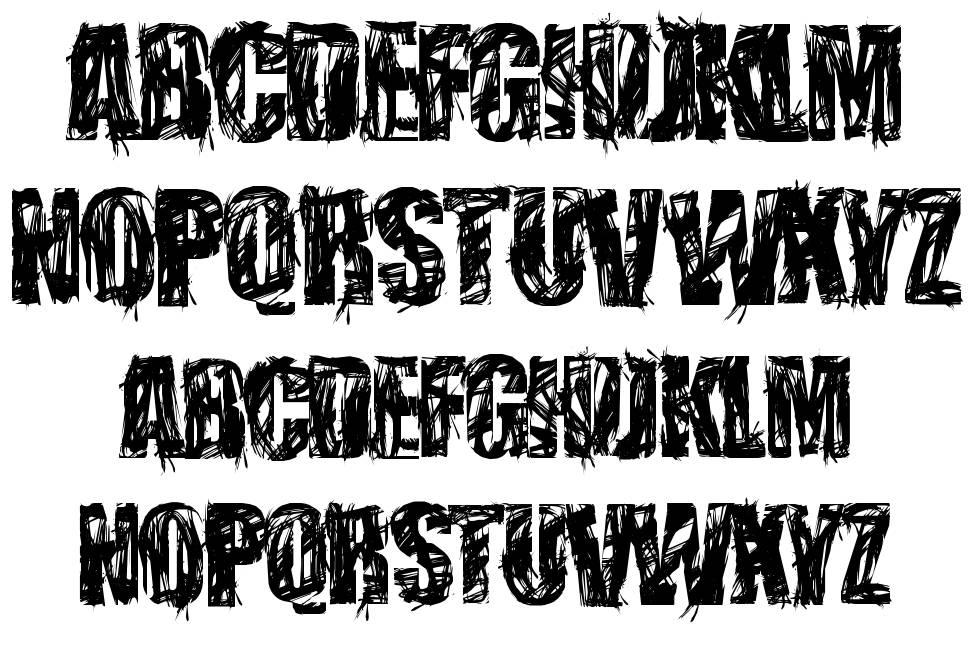 Stressberat Distort font