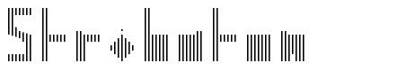 Stribaton font