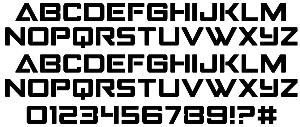 Strike Fighter font