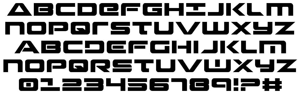 Strikelord  font