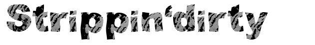 Strippin'dirty font