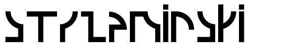 Strzeminski font