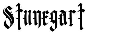 Stunegart font