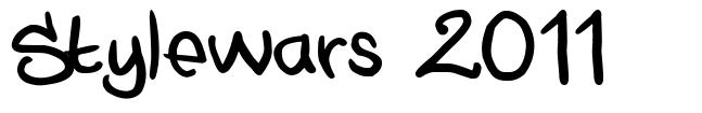 Stylewars 2011 font