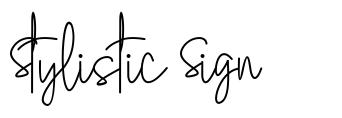 Stylistic Sign