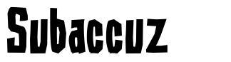 Subaccuz font
