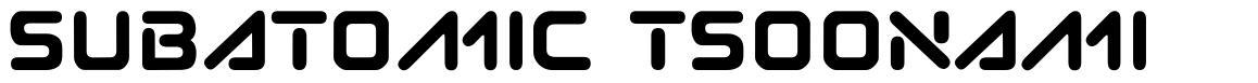 Subatomic Tsoonami font