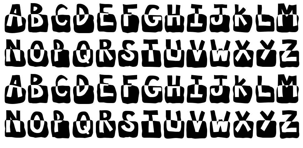 Submerged font