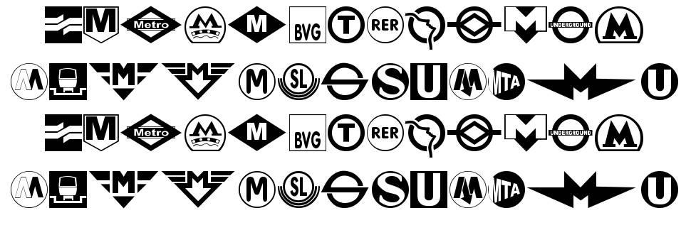Subway Sign font