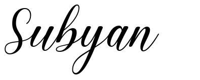 Subyan písmo