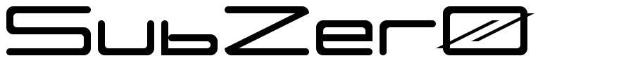 SubZer0 font