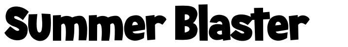 Summer Blaster font