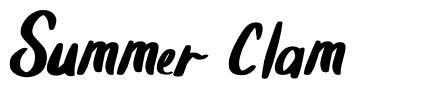 Summer Clam font