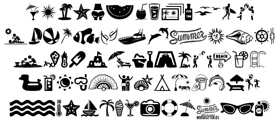 Summer Icons font