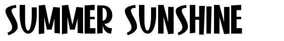 Summer Sunshine fonte