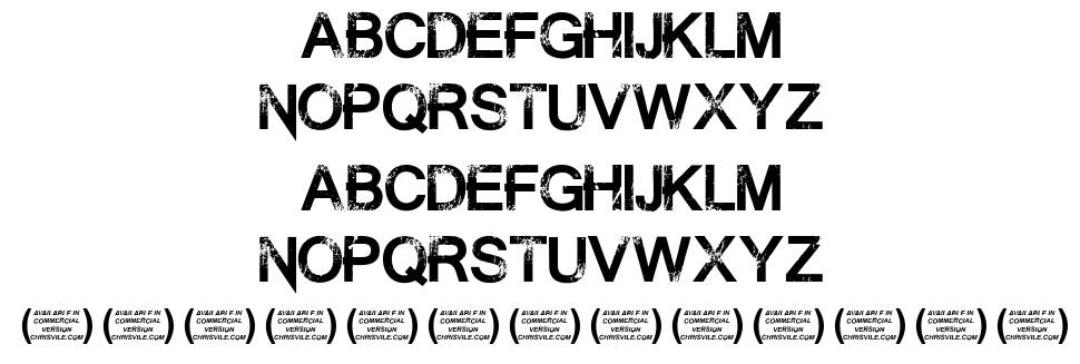 Summon the Executioner font