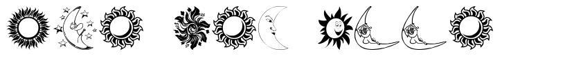 Sun and Moon 字形