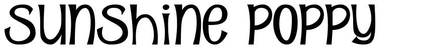 Sunshine Poppy font