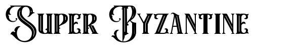 Super Byzantine font