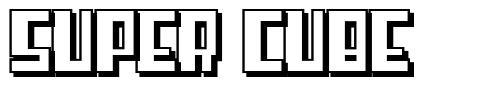 Super Cube font