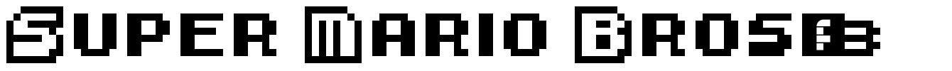 Super Mario Bros. 3 font