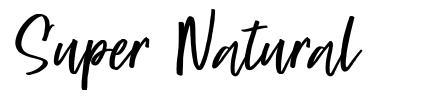 Super Natural font
