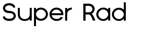 Super Rad font