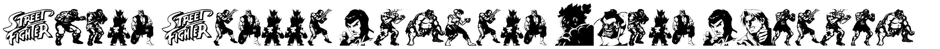 Super Street Fighter Hyper Fonting font