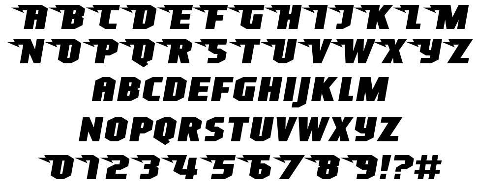 Superheterodyne-Regular font