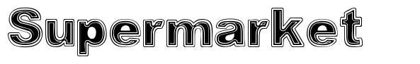 Supermarket font