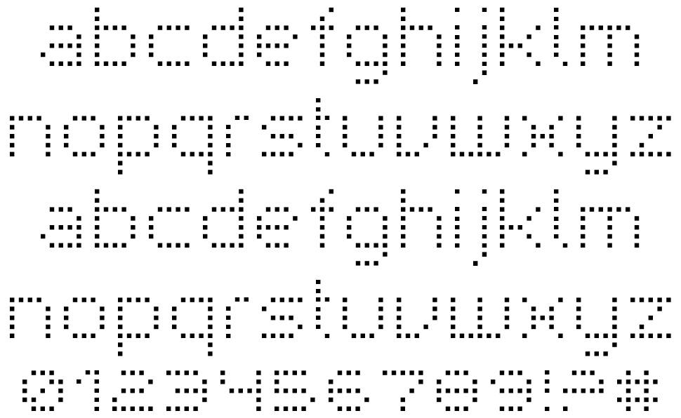 Superpoint rounded + square font