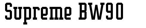 Supreme BW90 font
