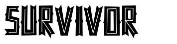 Survivor font