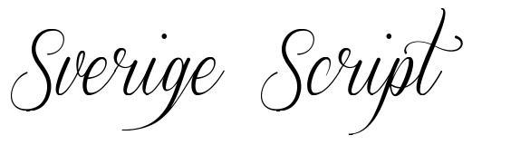 Sverige Script 字形