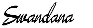Swandana font