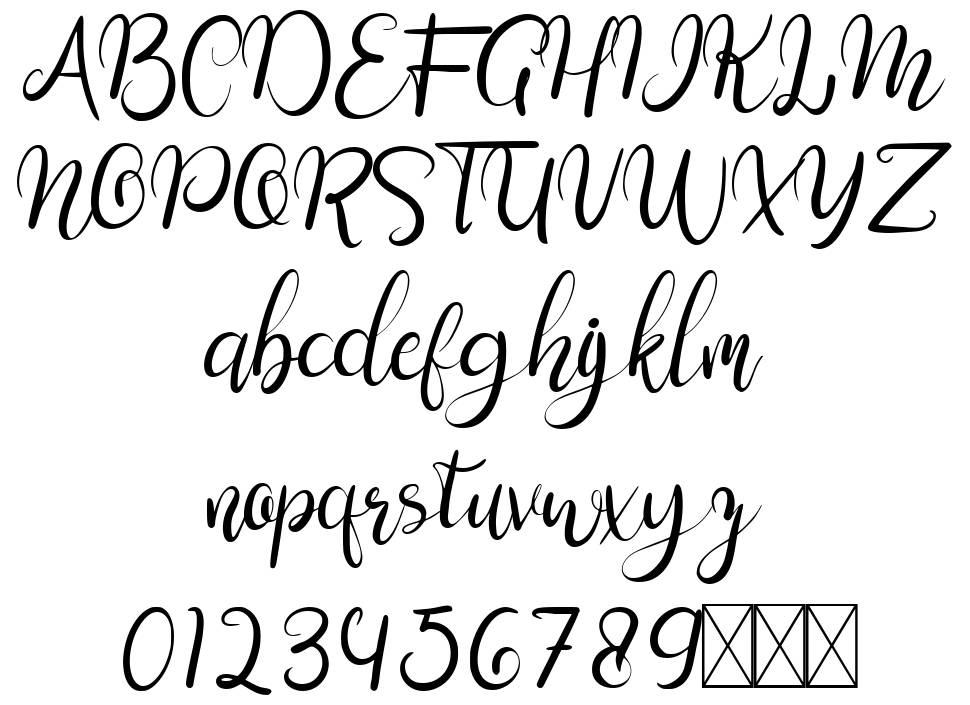 Sweengly font