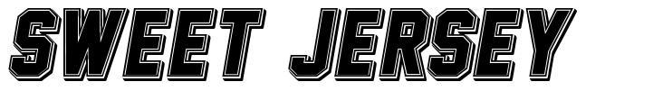 Sweet Jersey font