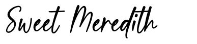 Sweet Meredith font