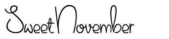 Sweet November font