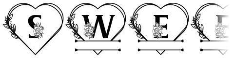 Sweety Camellia Monogram