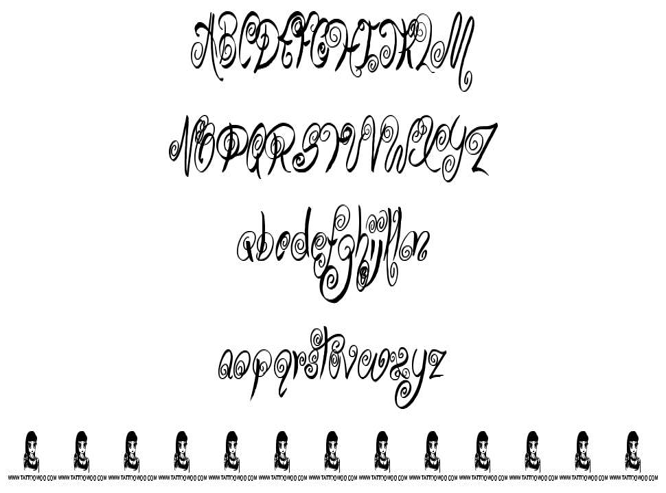 Swirly Shirley font