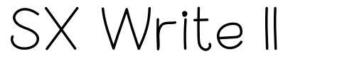 SX Write II police