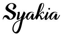 Syakia