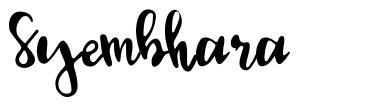 Syembhara font