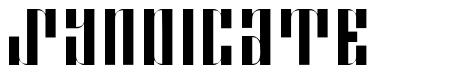 Syndicate font