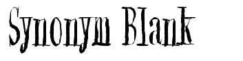Synonym Blank