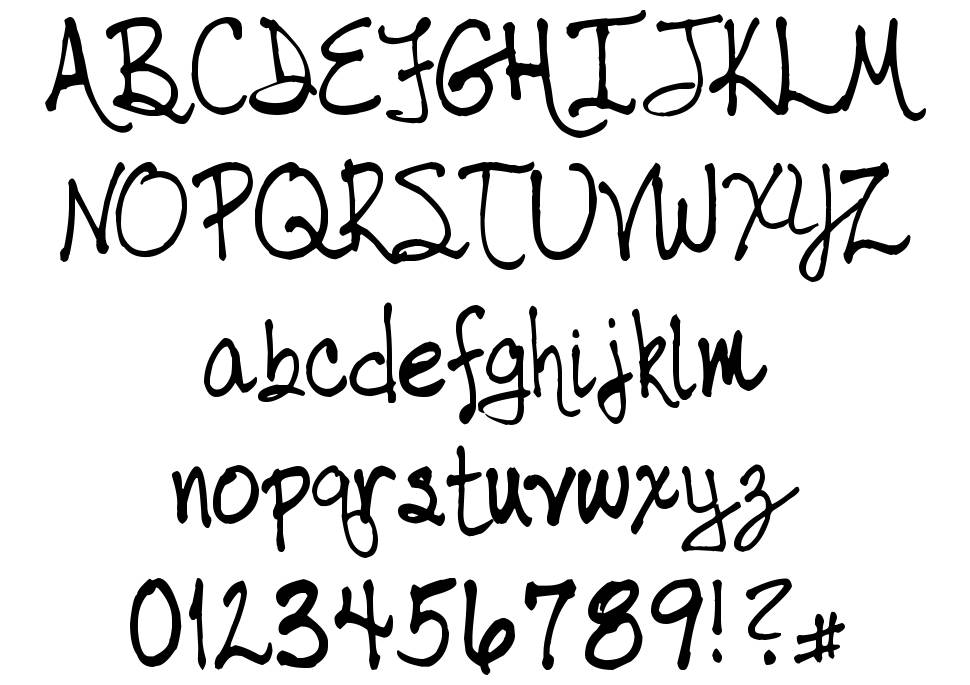 Tabor Handwriting font